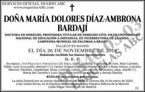 María Dolores Díaz-Ambrona Bardají