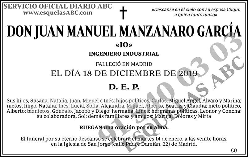 Juan Manuel Manzanaro García