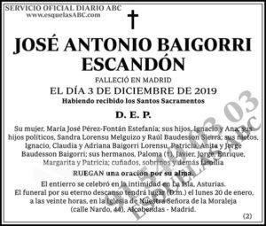 José Antonio Baigorri Escandón