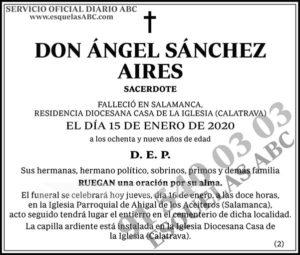 Ángel Sánchez Aires