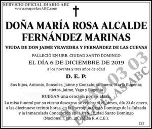 María Rosa Alcalde Fernández Marinas