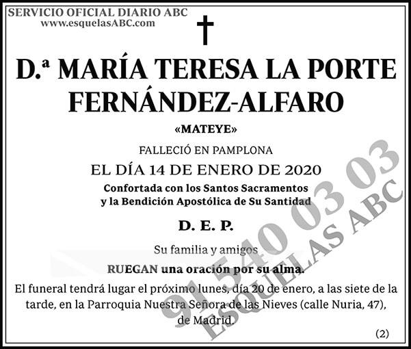María Teresa La Porte Fernández-Alfaro