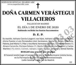 Carmen Verástegui Villacieros