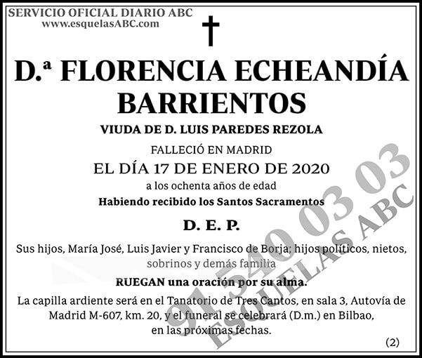 Florencia Echeandía Barrientos