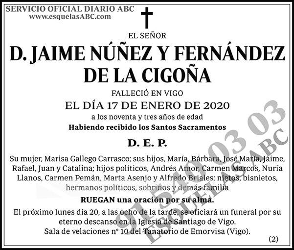 Jaime Núñez y Fernández de la Cigoña
