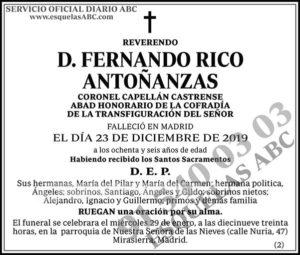 Fernando Rico Antoñanzas