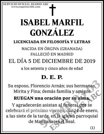 Isabel Marfil González