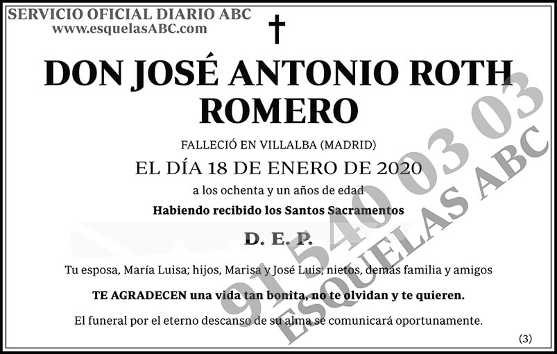 José Antonio Roth Romero