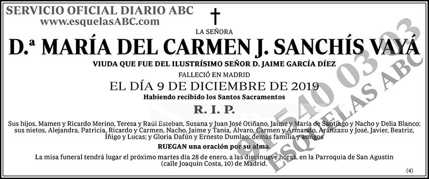 María del Carmen J. Sanchís Vayá