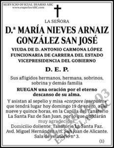 María Nieves Arnaiz González San José