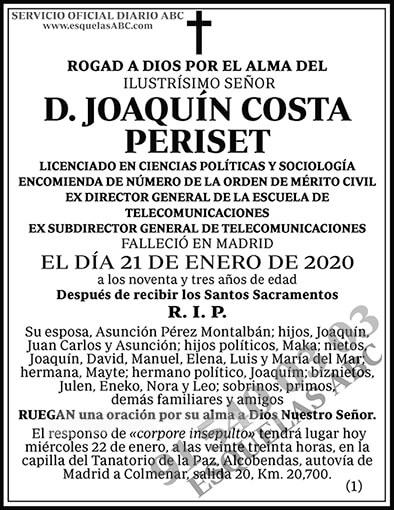 Joaquín Costa Periset