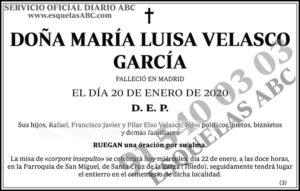 María Luisa Velasco García