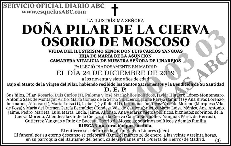Pilar de la Cierva Osorio de Moscoso