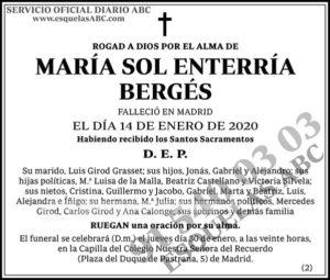 María Sol Enterría Bergés
