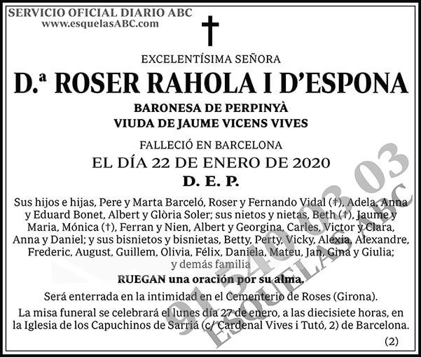 Roser Rahola I D´Espona