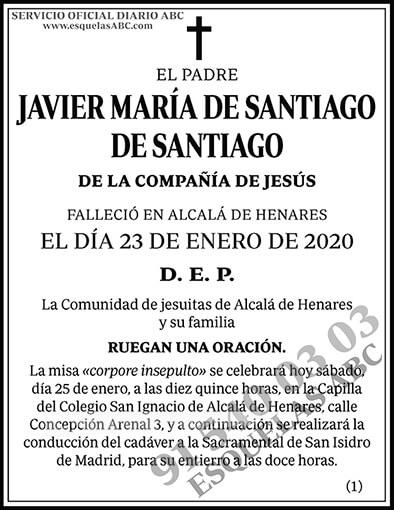 Javier María de Santiago de Santiago