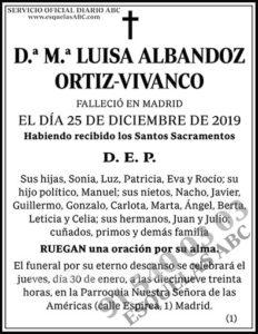 M.ª Luisa Albandoz Ortiz-Vivanco