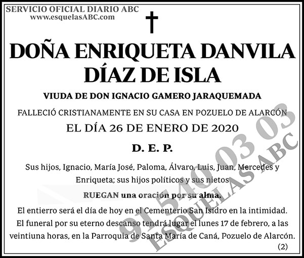 Enriqueta Danvila Díaz de Isla