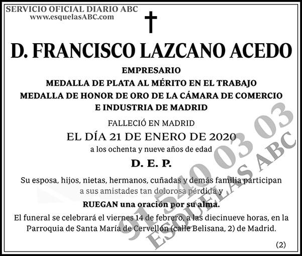 Francisco Lazcano Acedo