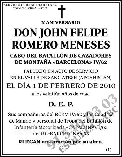 John Felipe Romero Meneses