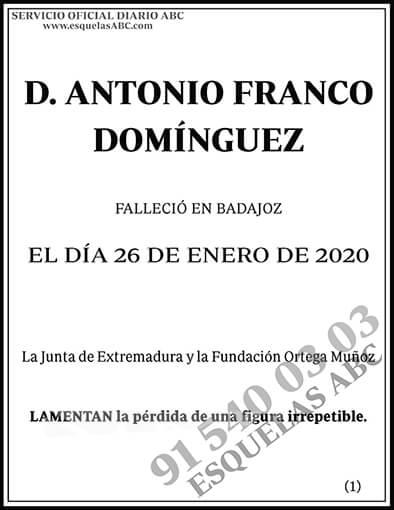Antonio Franco Domínguez