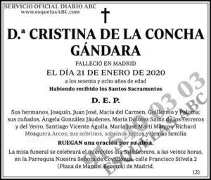 Cristina de la Concha Gándara