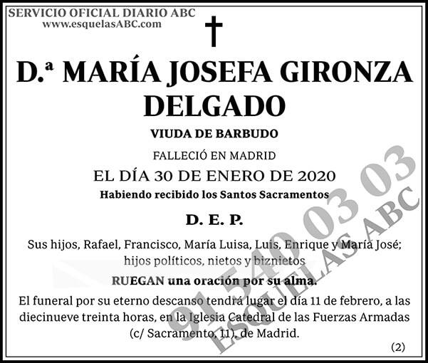 María Josefa Gironza Delgado
