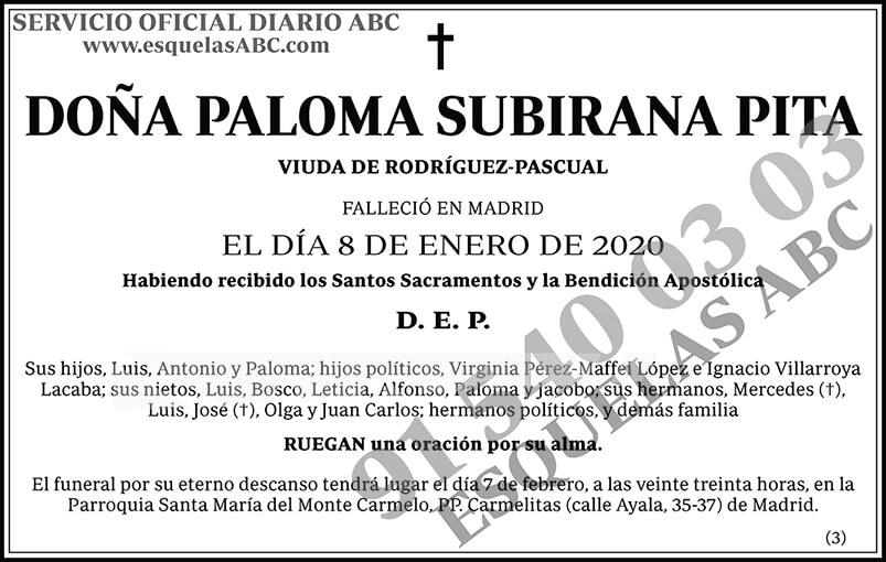 Paloma Subirana Pita