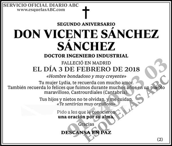 Vicente Sánchez Sánchez