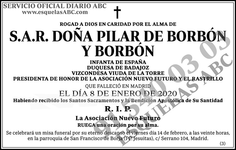Pilar de Borbón y Borbón