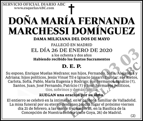 María Fernanda Marchessi Domínguez
