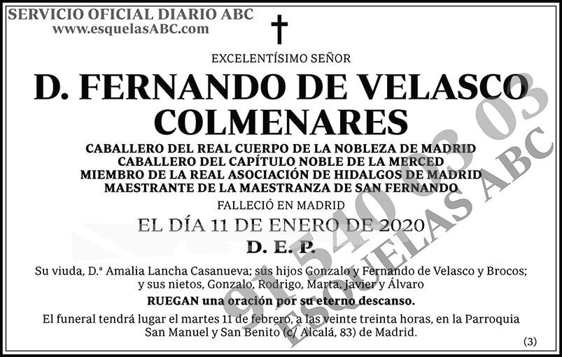 Fernando de Velasco Colmenares