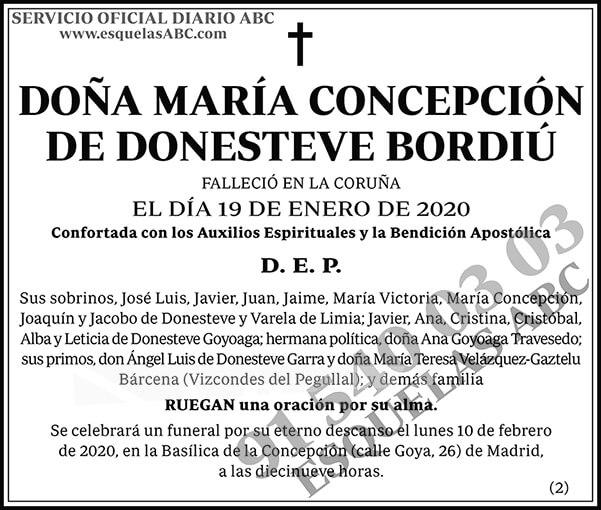 María Concepción de Donesteve Bordiú