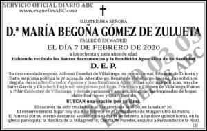 María Begoña Gómez de Zulueta