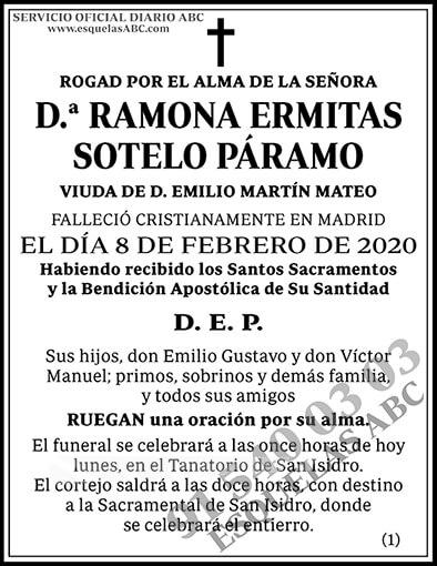 Ramona Ermitas Sotelo Páramo