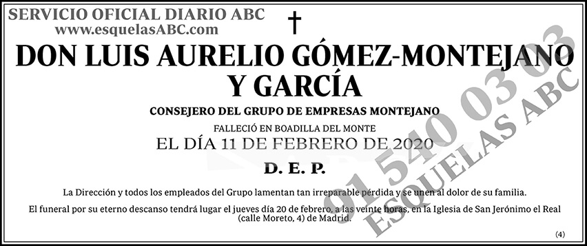 Luis Aurelio Gómez-Montejano y García