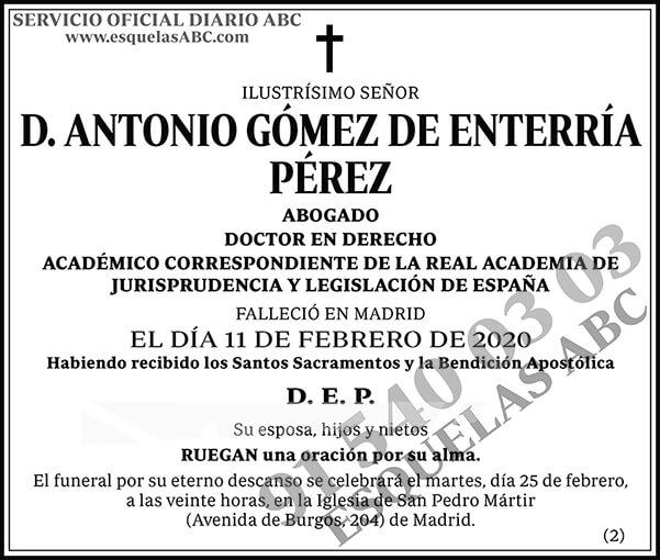 Antonio Gómez de Enterría Pérez