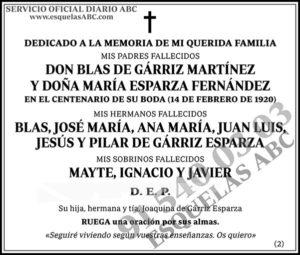 Blas de Gárriz Martínez