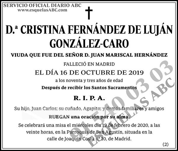 Cristina Fernández de Luján González-Caro