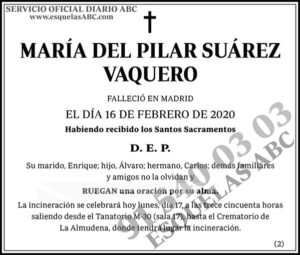 María del Pilar Suárez Vaquero