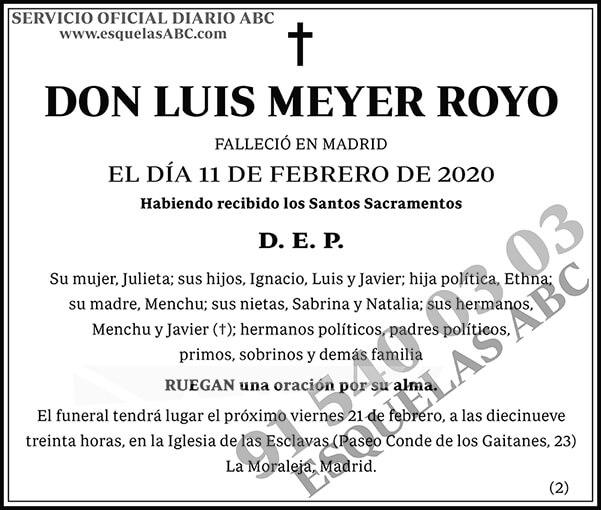Luis Meyer Royo