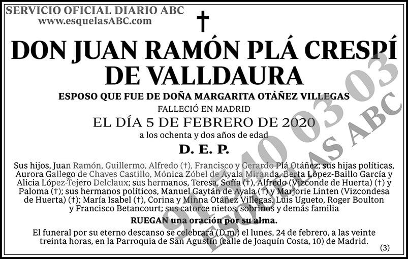 Juan Ramón Plá Crespí de Valldaura