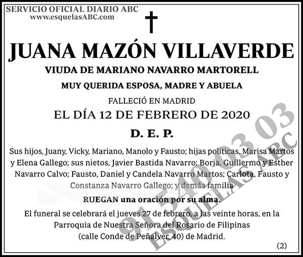 Juana Mazón Villaverde