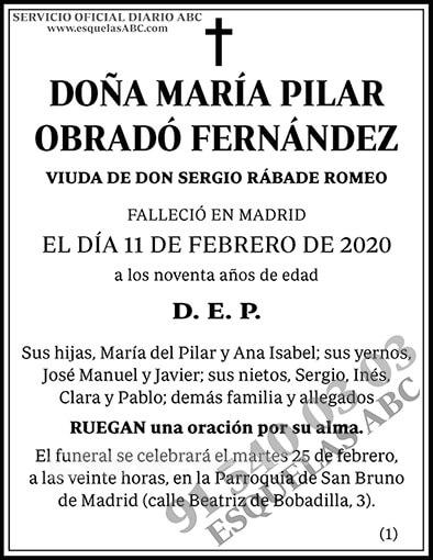 María Pilar Obradó Fernández