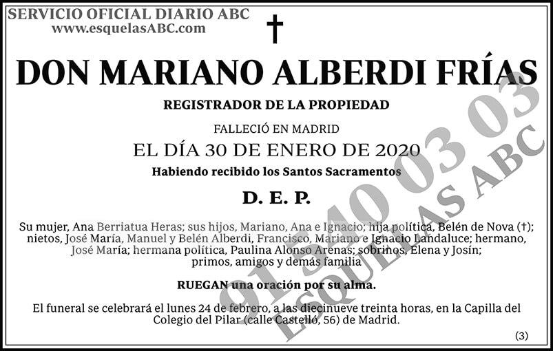 Mariano Alberdi Frías