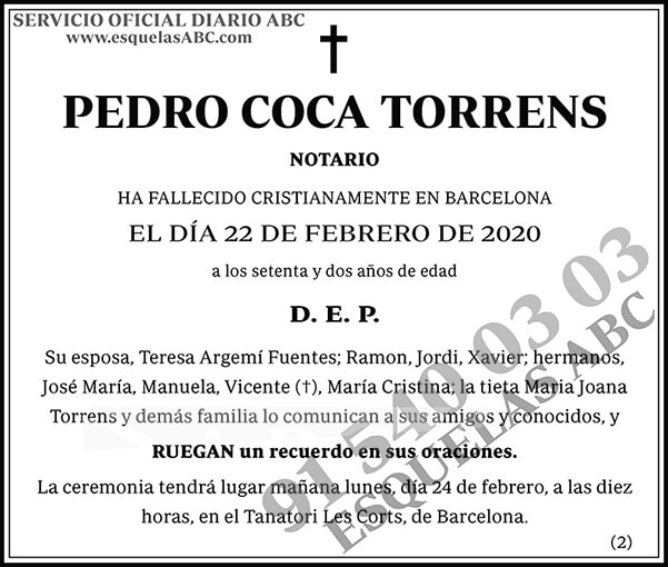 Pedro Coca Torrens
