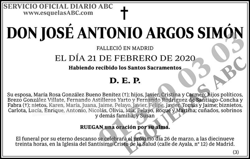 José Antonio Argos Simón
