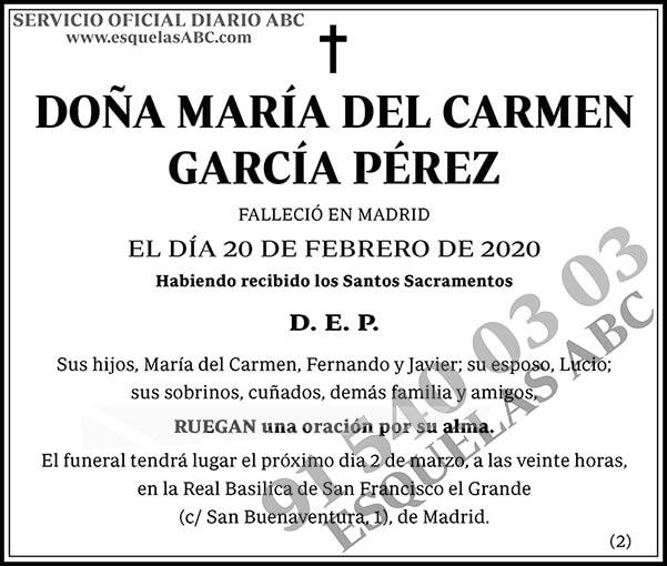 María del Carmen García Pérez