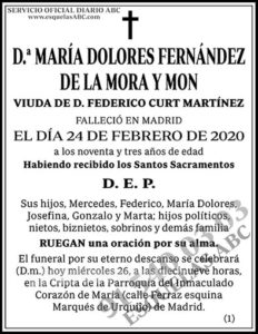 María Dolores Fernández de la Mora y Mon