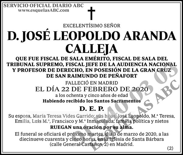 José Leopoldo Aranda Calleja